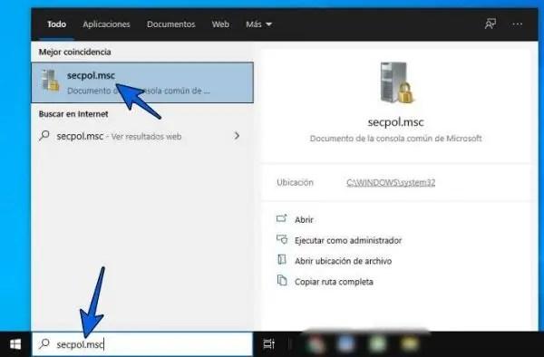 Escribe secpol.msc para entrar a Directivas de seguridad local de Windows