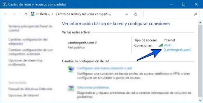 Cómo saber la contraseña del WiFi al que estoy conectado en Windows 10