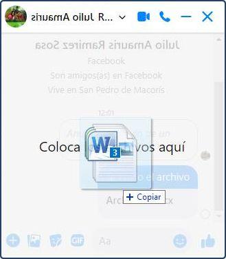 Enviar archivos PDF, Word y otros por Messenger