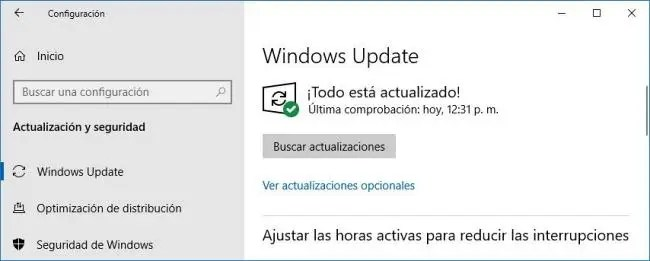 Actualizar Windows 10 si Microsoft Defender no se activa