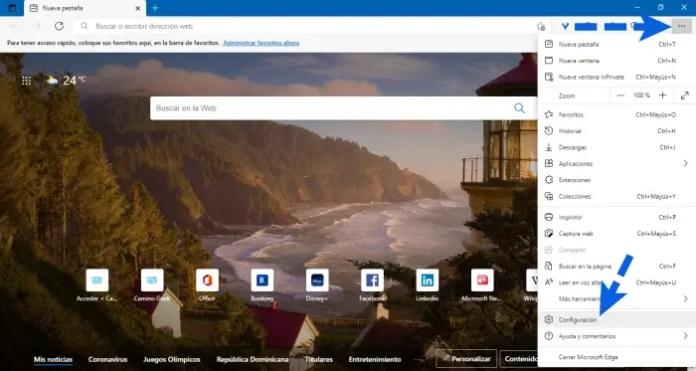 Poner Google como buscador predeterminado en Edge