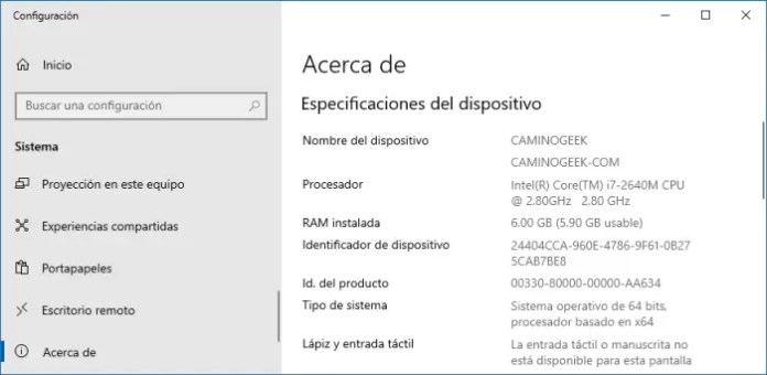 Ver características de mi PC
