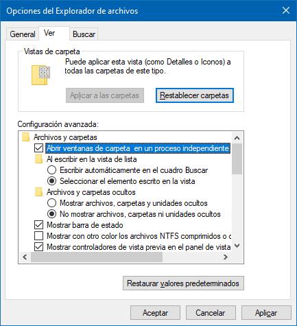 Ejecutar un proceso separado si el Explorador de archivos no responde