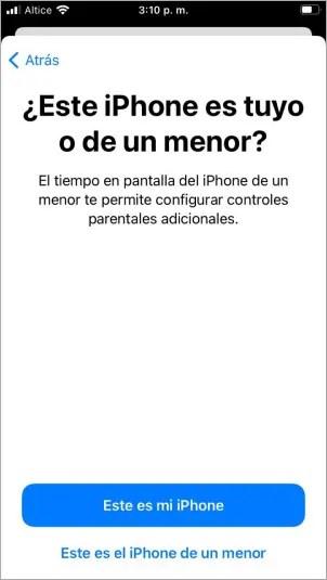 Activar el tiempo en pantalla iPhone