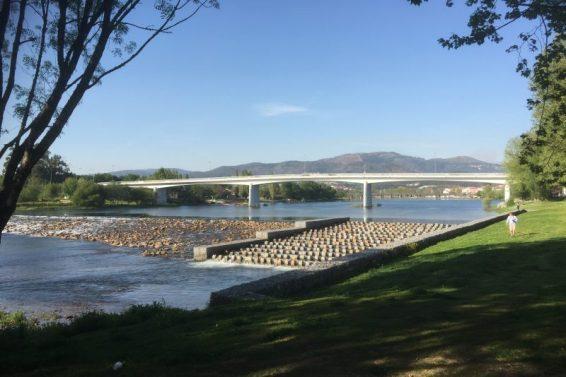 Vi nærmer os Ponte de Lima - den nye bro