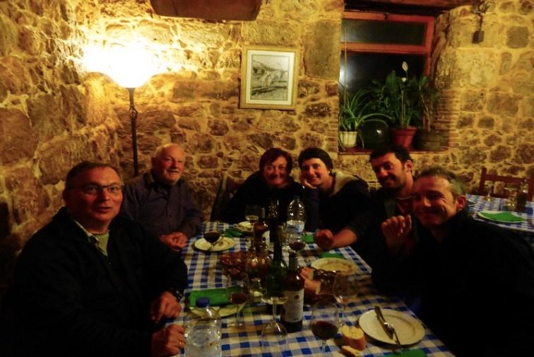 Dag 16 - i Castrojeriz - mig, Natale, Ughetta, Isabella, Luca og Marco - min italienske familie