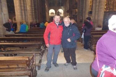 Dag 37 - Erwin og Natale i katedralen - hviledag i Santiago