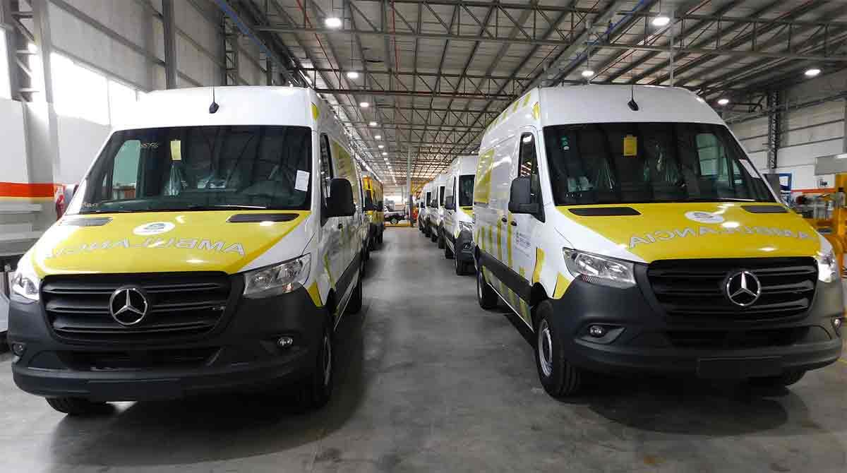 mercedes ambulancia