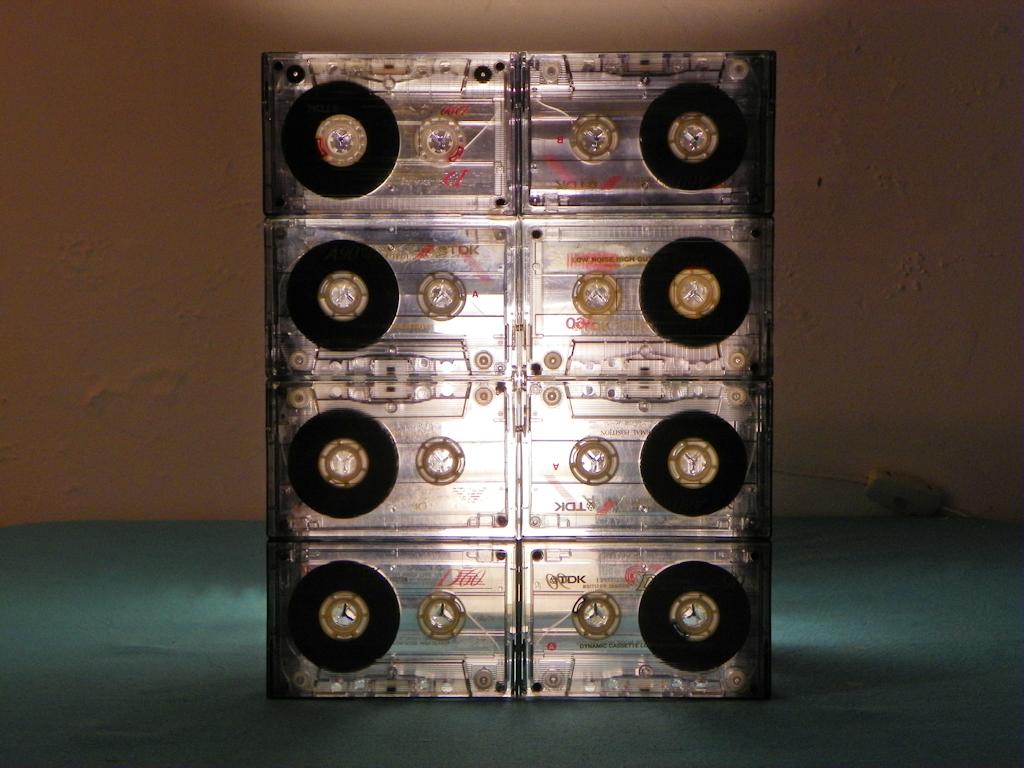 Tutorial Cmo hacer una Lmpara con Cassettes