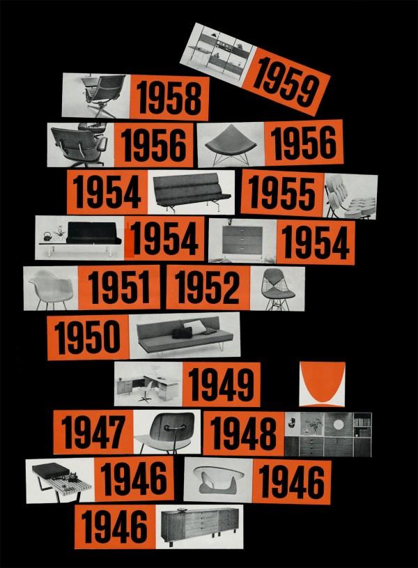 Avisos publicitarios para Herman Miller 19501960