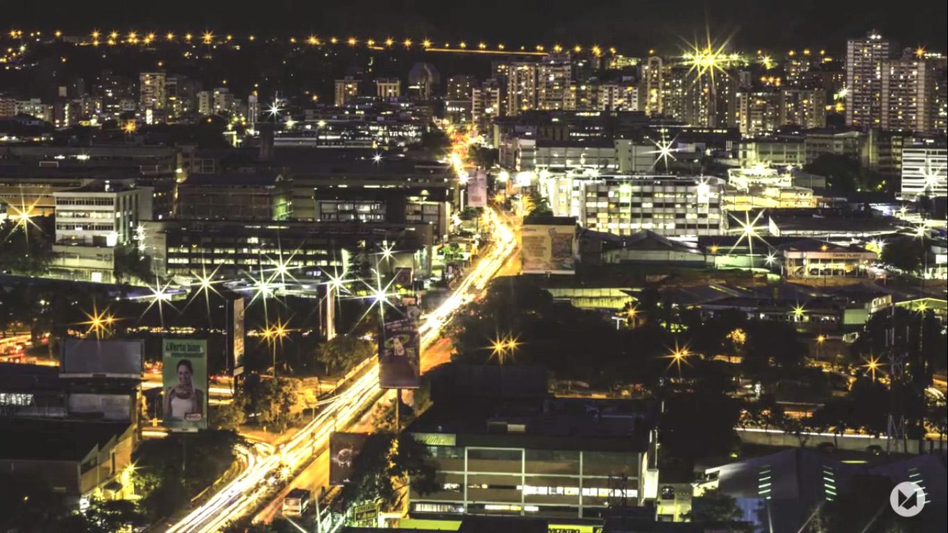 Perspectivas: Timelapse de Caracas. Caracas Nocturna. Por Diego Mojica