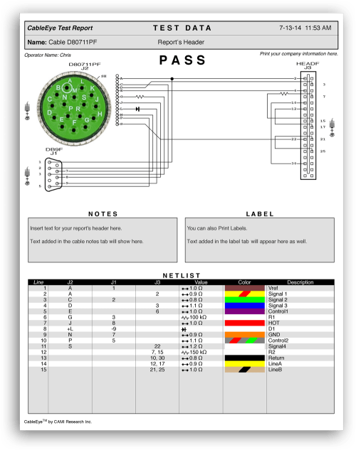 small resolution of cable tester automation cable u0026 harness manufacturing articleexample shows colour graphics of connector wiring