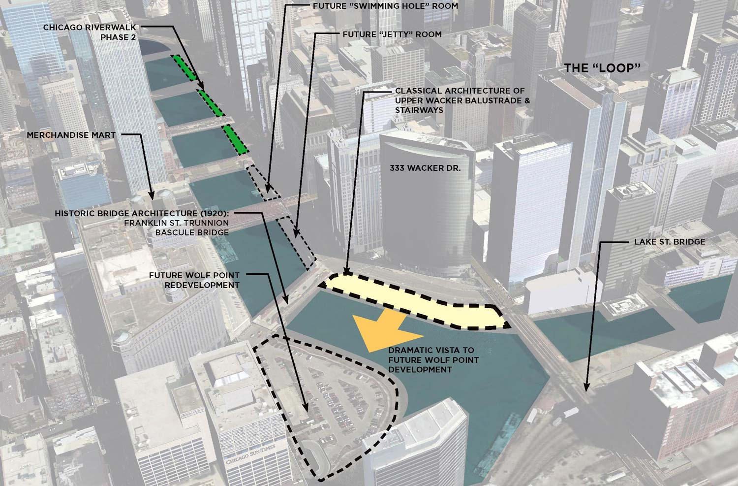 Riverwalk Chicago Map.Chicago Riverwalk Management Study Camiros Ltd