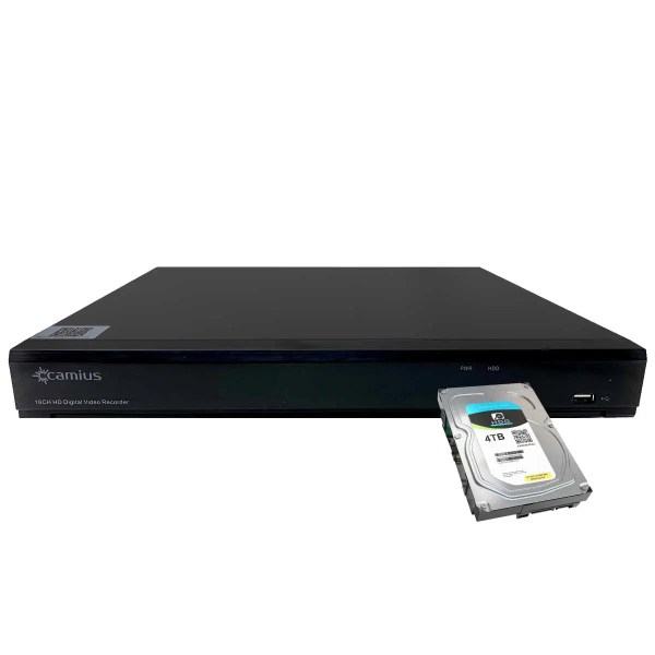 Camius security camera dvr with hard drive TriVaut4k2168 4TB HDD