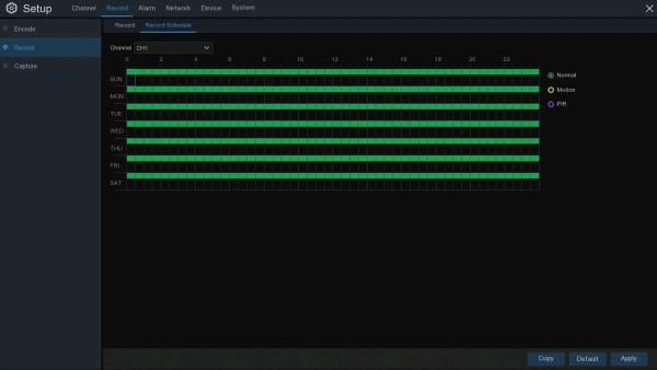 TRIVAULT4K2168 RECORDING SCHEDULE