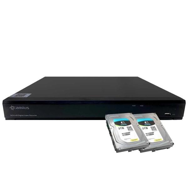 Camius dvr for security cameras TRivault4k2168 6TB