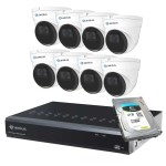 8 dome camera security system Camius 8P8I5R3T