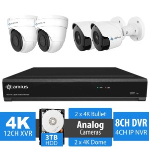 Camius 4k security cameras 124k2b2d3t