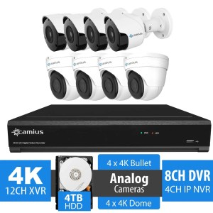 4K 8 Channel Dome Bullet Security Camera DVR System 4TB