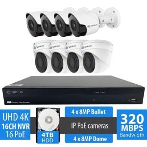 4k ip camera system 16PP48B48D4T
