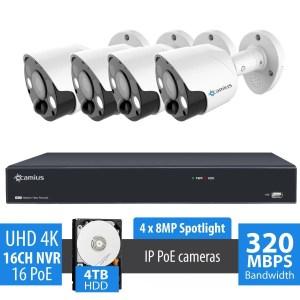 4 PoE spotlight cameras