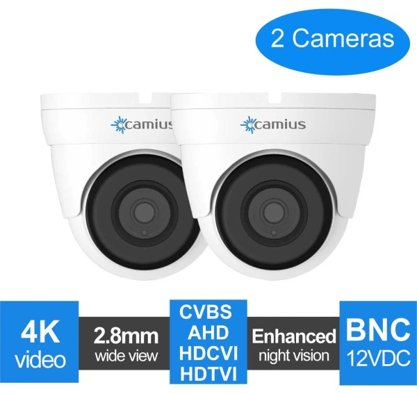 dome cctv camera 2-pack-fd4katc-camius