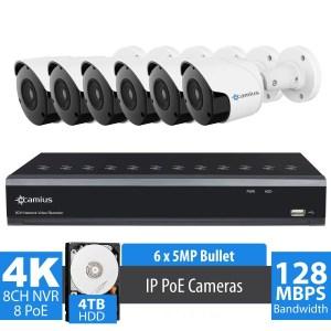 Camus 4K 6 PoE IP camera system