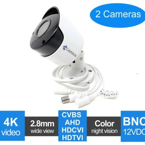 Analog security camera bullet FB4KATC 2 pack Camius
