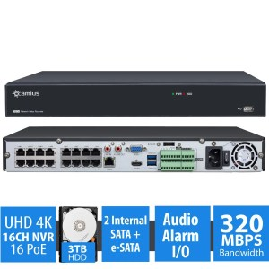 4K NVR 16 channel Ipvault2320P16N 3TB HDD