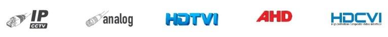Hybrid DVR IP Camera Analog CVBS HDTVI AHD HDCVICamius