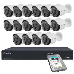 4k 16 camera 16ch nvr system 3tb hdd