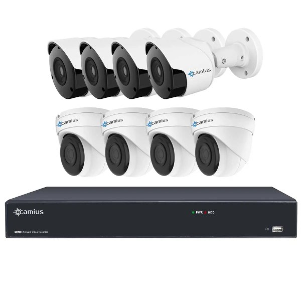 16 channel nvr poe system 16PP4B4I Camius
