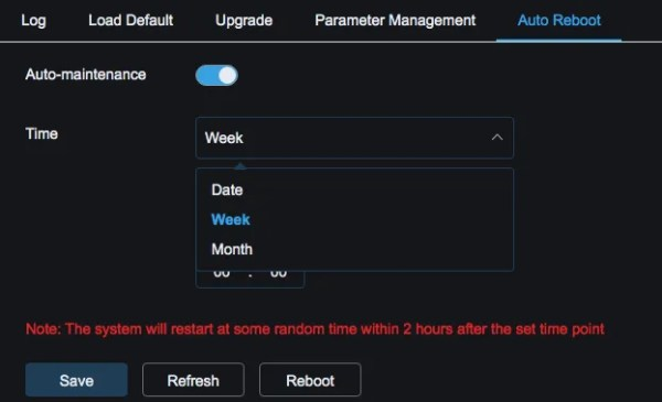 Spot8R autoreboot time