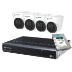 4 5MP Dome IP Camera System with Audio, 8 Channel NVR 3TB 8P4I5R3T