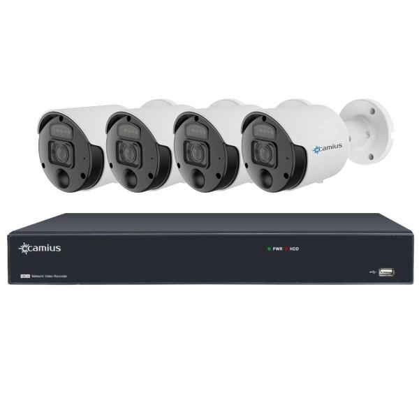 Camius 8mp poe spotlight cameras 16ch nvr