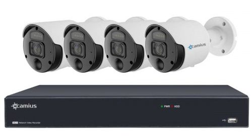8MP Camius poe spotlight cameras with 16 channel NVR 16PN4S8R 16PN-4-SR8-0T