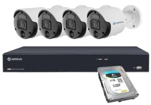 4 PoE Spotlight 4K Camera 16CH NVR System 4TB 16PN4S8R4T