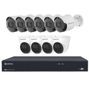 10 5MP 16 Channel IP NVR Camera System, without HDD - 16PN6B4IR