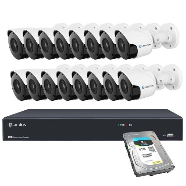 Camius 16 outdoor poe camera system 16PN16B4T