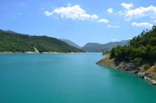 Il lago del Turano, visto dalla diga