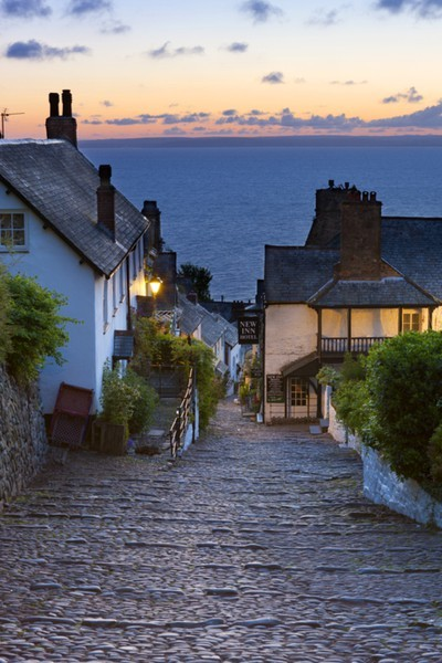Dusk, Clovelly, Devon, England