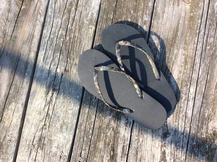 flip flops on deck
