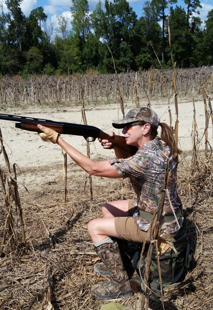 Maggie Dove hunting with Benelli