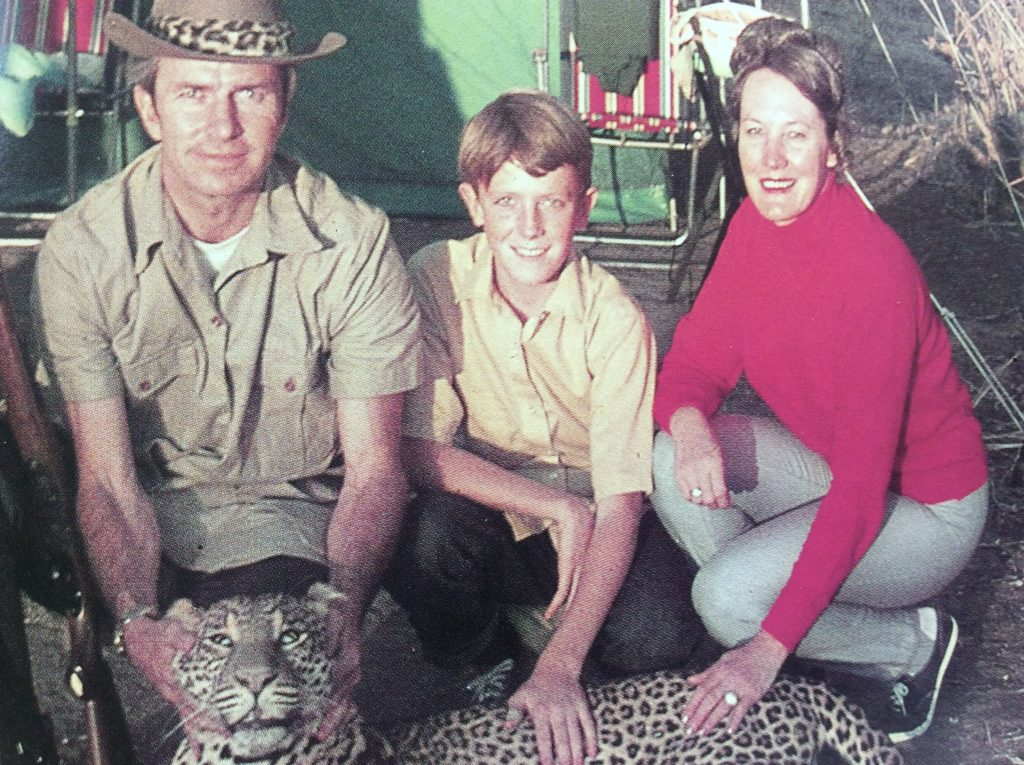 vintage photo of Africa hunt