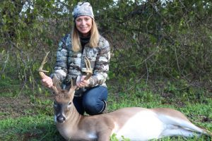 Prois hunter with buck