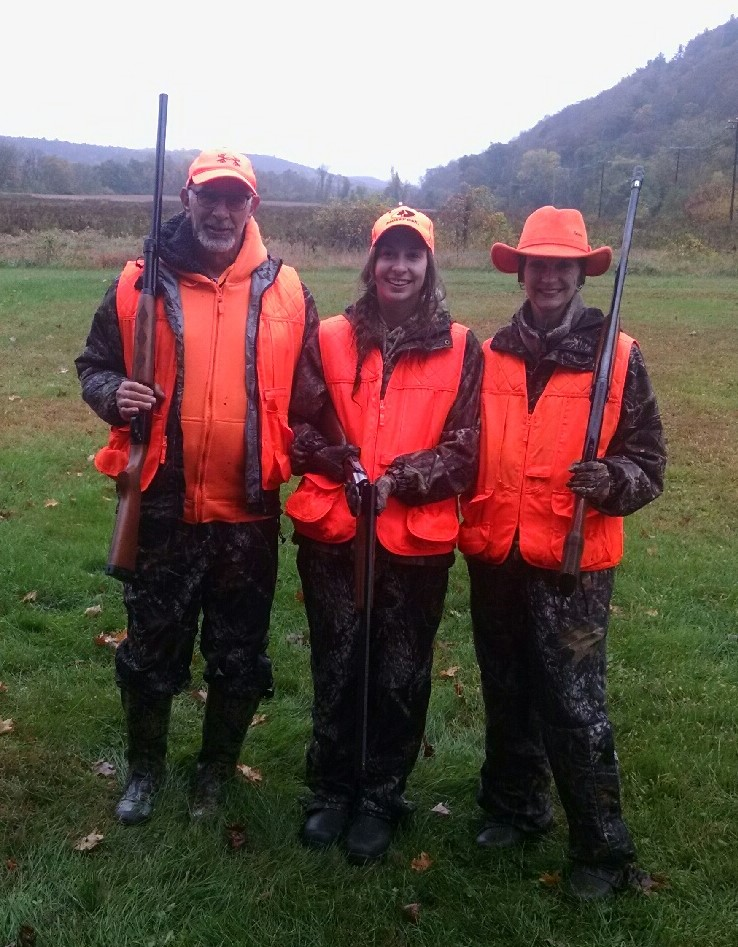 Fucci family hunting pheasants in Pennsylavania