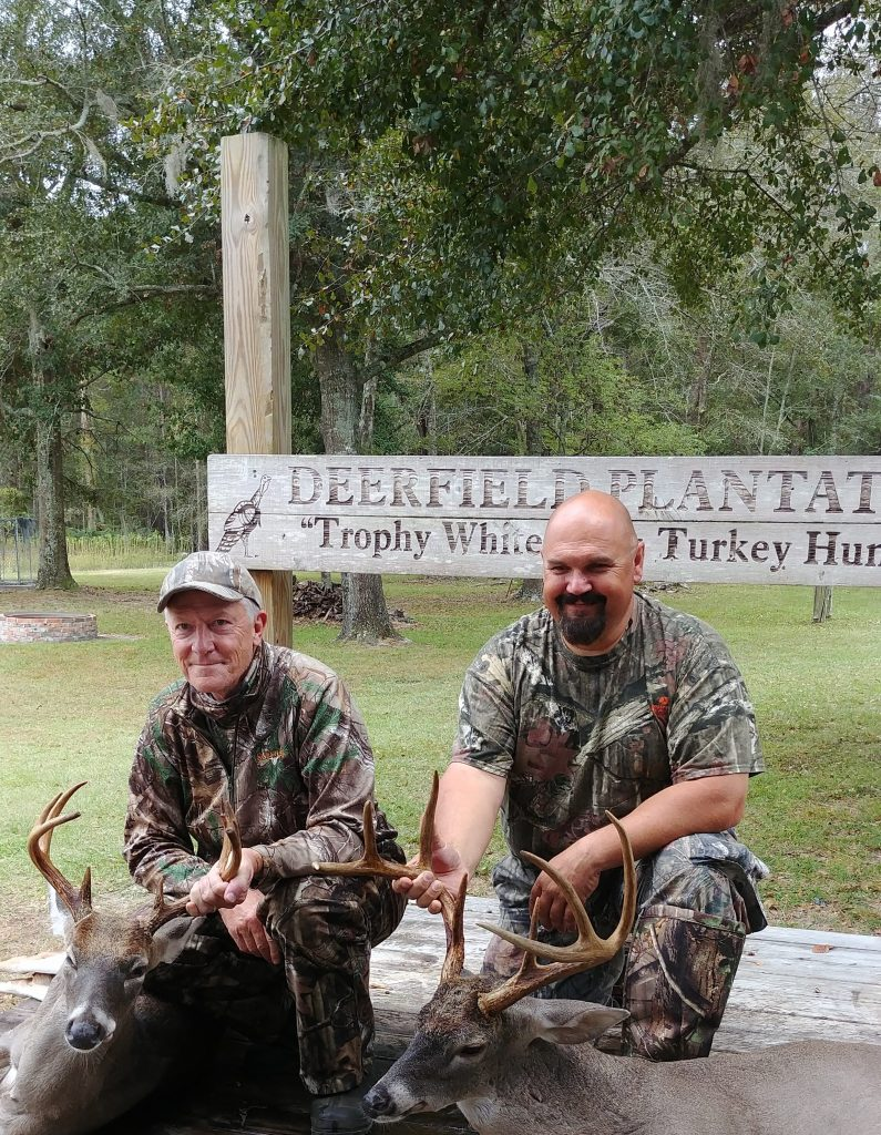 my hubby and fellow hunter both took nice bucks