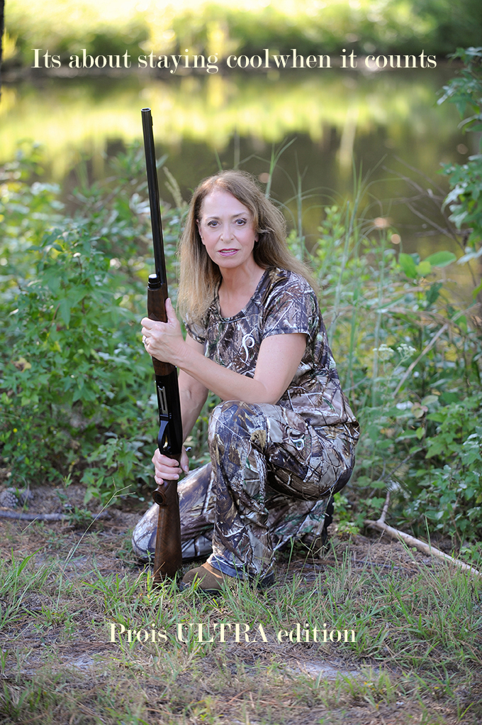 huntress in warm weather camo