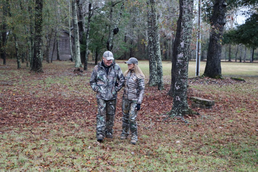 hunting couple on an anniversary hunt