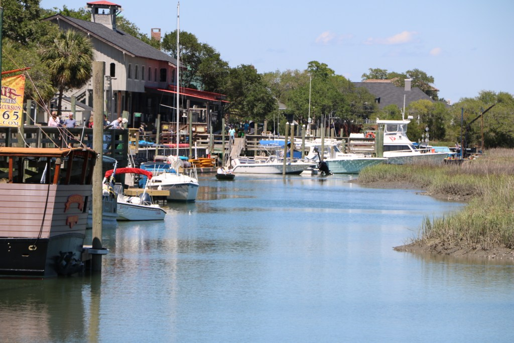 famous marsh walk creek in Murrells Inlet